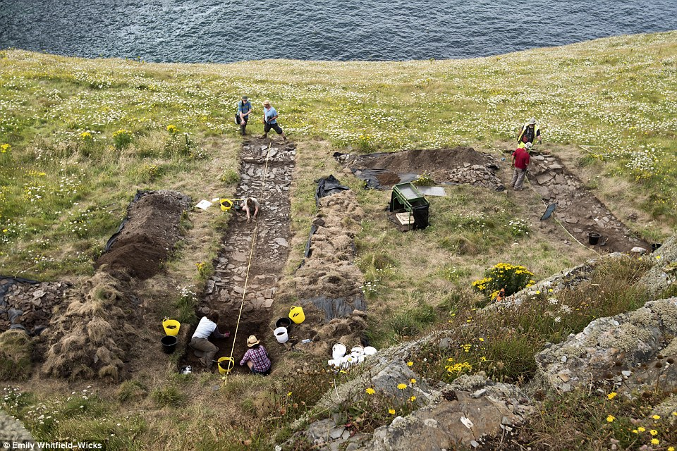 Geophysical surveys carried out earlier this year found the walls and layers of buried buildings built between the 5th and 7th centuries. New excavations led by Cornwall Archaeological Unit (CAU) are shedding light on how and when the buildings were constructed
