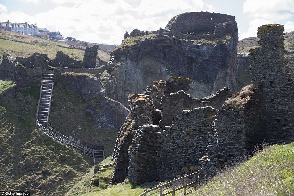 Tintagel castle in Cornwall has a long association with the Arthurian legends, going back to the 12th century. Despite these literary connections, no archaeologist has been able to find proof at the site that King Arthur existed or that the castle was linked to the legendary king