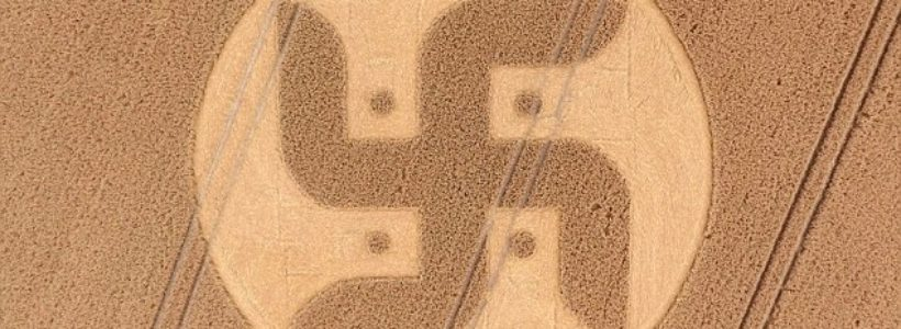 Huge crop circle in the shape of a swastika has been spotted in the Wiltshire