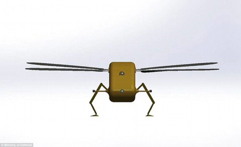 The Dragonfly drone – which can fit in the palm of a hand - will spy on enemy positions and gather intelligence for the military and British agents