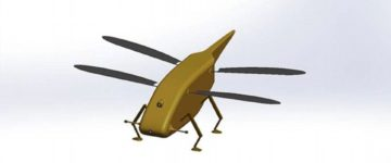 Britain's military unveils futuristic insect-sized spy drone