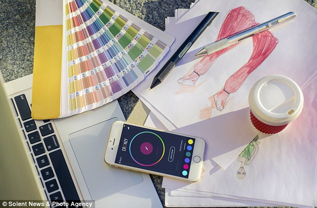 The ink colour will be exactly the same shade as anything that is scanned, whether it is a green leaf or a red apple