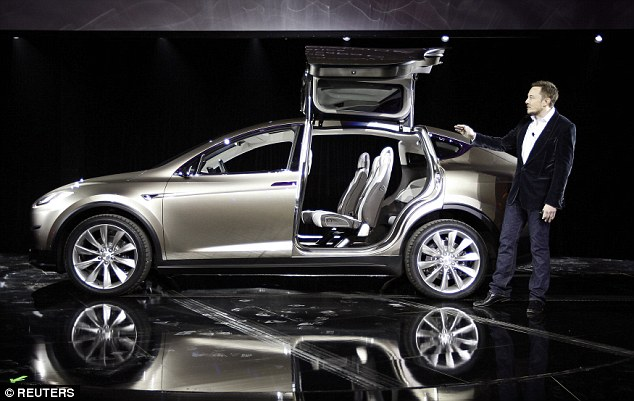 The larger battery pack will also make the Model X the world's quickest SUV with the ability to accelerate to 60 miles per hour in 2.9 seconds.