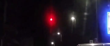 Mysterious fiery red UFO orb filmed over Paris