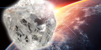 Diamond size of earth discovered