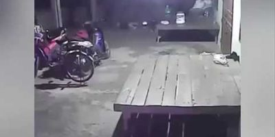 Ghost climbs on bike and starts pedalling in spooky footage