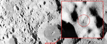 Alien object spotted on the surface of the moon