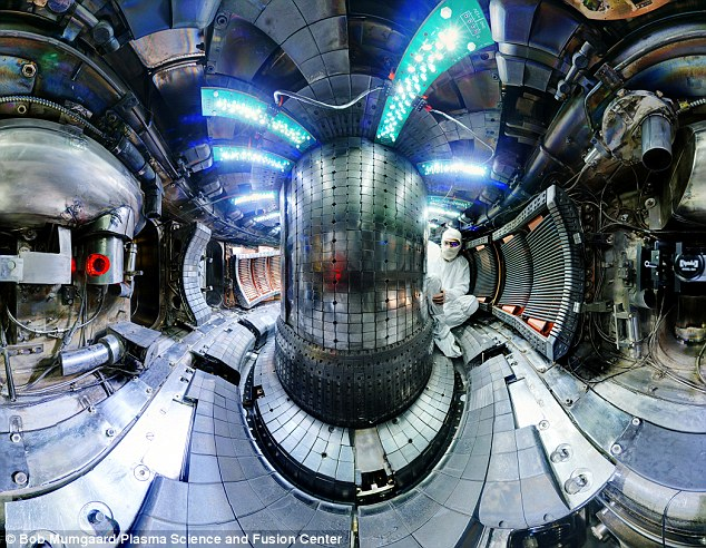 Engineers and scientists at MIT have nudged nuclear fusion power another step closer to reality, by setting a new world record for plasma pressure inside a specially designed Tokamak reactor (pictured)
