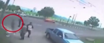 Chilling footage shows woman's soul leaving her body after bike accident
