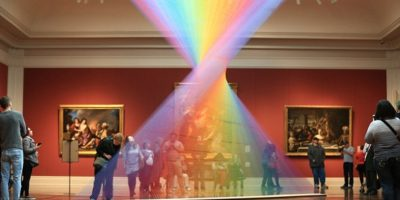 The amazing INDOOR rainbow that's been baffling museum-goers