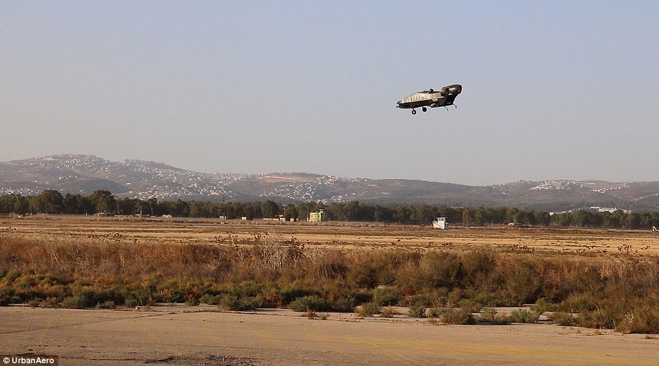 The Cormorant was developed the Israeli firm Tactical Robotics, a subsidiary of the 'Fancraft' technology pioneer Urban Aeronautics, who has conducted more than 200 flights with this military machine. This test flight (pictured), which was carried out on November 3, was the first time the Cormorant took to the skies over uneven terrain while piloting itself