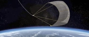 Japan's blasts a giant 'fishing net' into space to clear up some of the pieces of junk in Earth's orbit