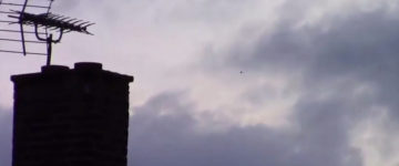 UFO Chased By Mysterious black helicopter