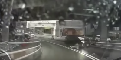 Dashcam Films Man Appearing Out Of Thin Air