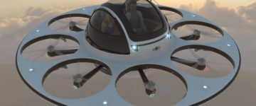 Bizarre new UFO style drone seats two people and travels at 120mph
