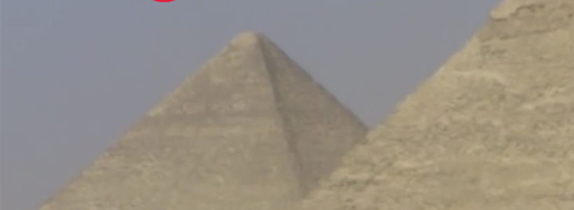 Three PYRAMID Shaped UFOs Filmed Hovering Above Egypt