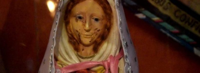 Virgin Mary statue 'crying tears of blood' in Argentina