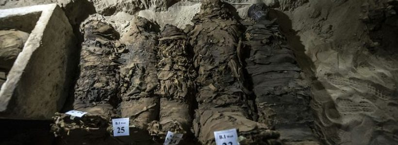 Archaeologists discover 17 mummies in central Egypt