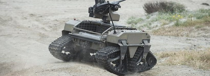 The future of war? US marines test robots with machine guns