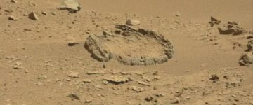 Mysterious rock 'circle' is spotted on Mars by Nasa's Curiosity rover