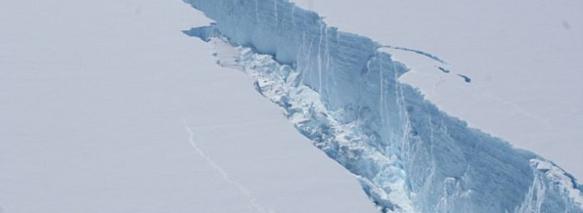 An iceberg the size of DELAWARE has snapped off the West Antarctic ice shelf