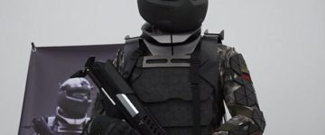 Russia unveils its hi-tech motorised 'Star Wars' armour for soldiers complete with exoskeleton, night vision and helmet