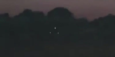 Triangle UFO sighting filmed over North East