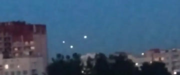 UFO sighting filmed in Moscow, Russia – August 19, 2017