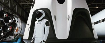 Elon Musk reveals the 'Stormtrooper' spacesuit and craft set to blast into orbit in 2018