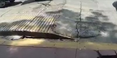 Incredible footage captures road appearing to BREATHE in Mexico
