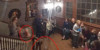 Two ghostly apparitions spotted in photo taken at hotel