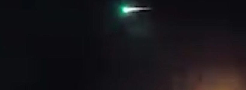 Green UFO Filmed In Scotland On New Year's Eve