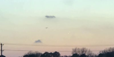 Two linked UFOs Recorded Above Memphis, Tennessee   24th December 2017