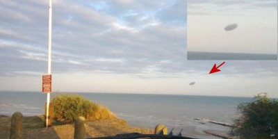 Disc-like UFO Photographed at Bexhill on Sea, East Sussex, UK