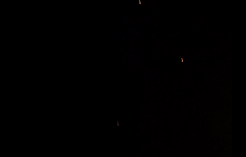 Mutiple unknown lights in triangle formation filmed over Longwood Florida – 25th Feb 2014