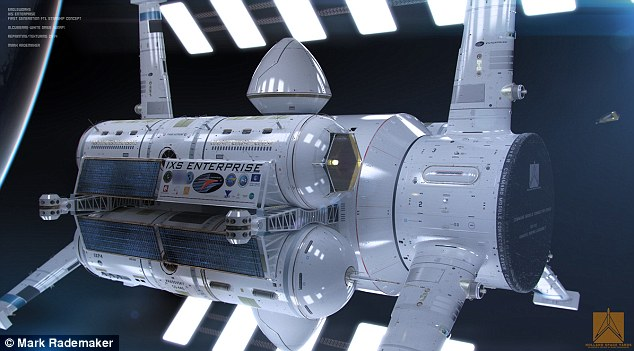 The ship has a number of features that make interstellar travel possible. This includes the two rings surrounding the central spacecraft - these are known as an Alcubierre drive and are used to 'warp' space-time and travel many light years in a matter of days