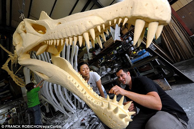 Spinosaurus had jaws filled with vicious slanted teeth and a snout like that of a massive crocodile. The creature also had powerful forelimbs with curved, blade-like claws ideal for hooking into or slicing prey