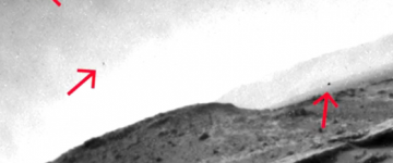 Three Unknown Objects fimed over Mars – December 2014