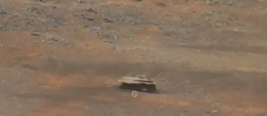 Disk Shaped UFO Filmed over  by Mars Rover in February 2015