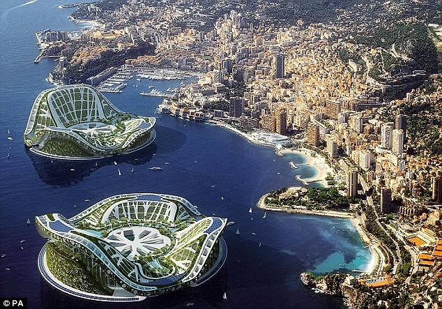 Man-made mobile islands will be commonplace in the next 100 years as will the idea of zero-impact travel