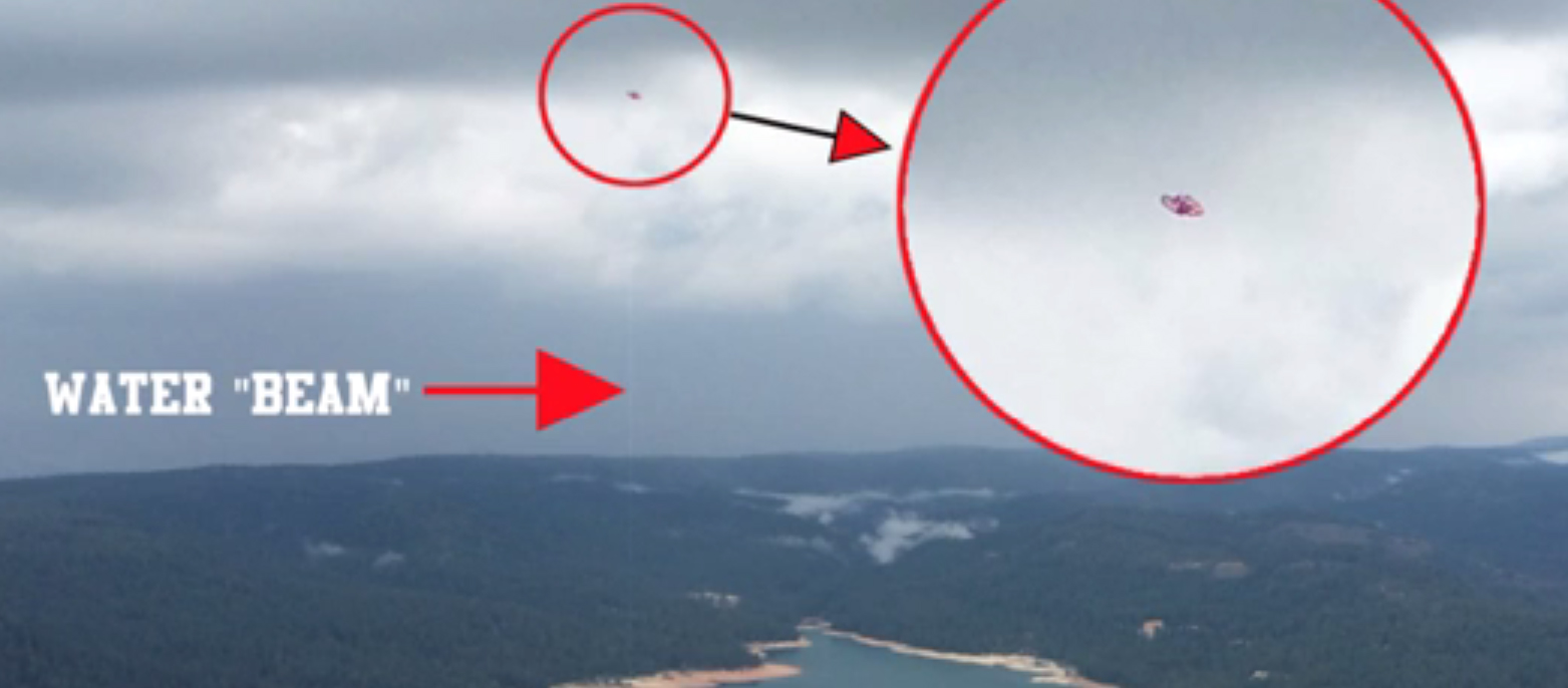 UFO Filmed Sucking Water our of a Lake in Nevada County – May 2015