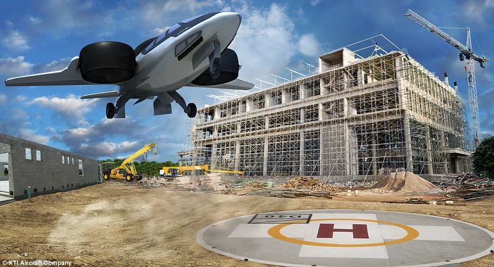 The craft is able to take off and land almost anywhere, requiring the same space as a helipad