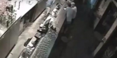 Ghostly CCTV shows stool wobble and fall over on its own