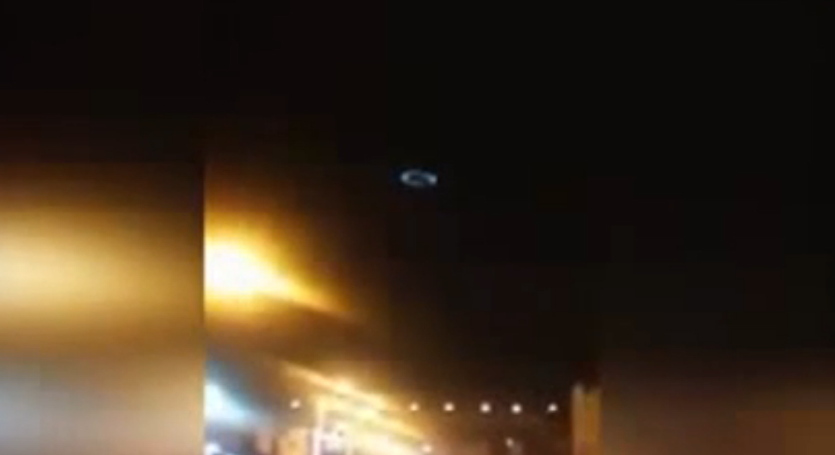 Circle Shaped UFO Filmed Over a Chilean City