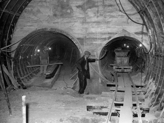 Deep down below the streets of London are the tunnels for the Post Office's underground railways. Picture: PASource:Supplied