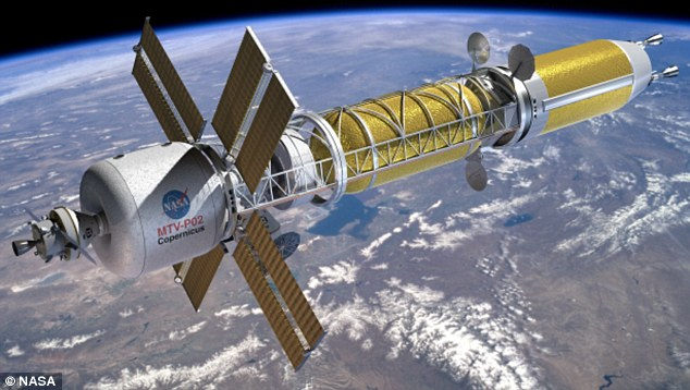 The proposed Copernicus spacecraft would use nuclear thermal propulsion to carry astronauts to Mars