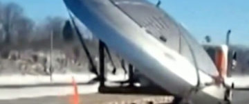 Area 51: Video showing a UFO being transported on the back of a truck