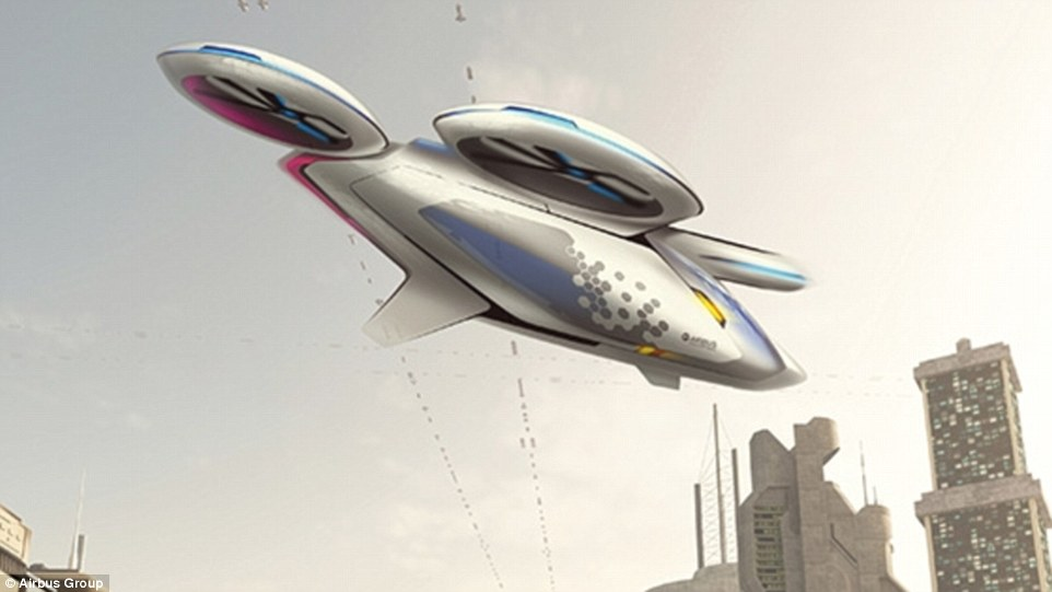 Airbus is designing a fleet of self-flying taxis in the hopes of relieving urban congestion. The aircraft manufacturer announced its plans on its website , writing that the flying taxis will be called CityAirbus. Artist's impression pictured
