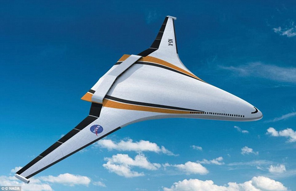 This idea for a possible future aircraft is called a 'hybrid wing body' or sometimes a blended wing body. In this design, the wing blends seamlessly into the body of the aircraft, which makes it extremely aerodynamic and holds great promise for dramatic reductions in fuel consumption, noise and emissions