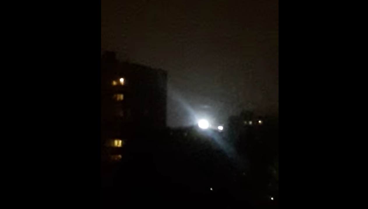 Bright UFO filmed above Moscow, Russia – 3rd October 2016